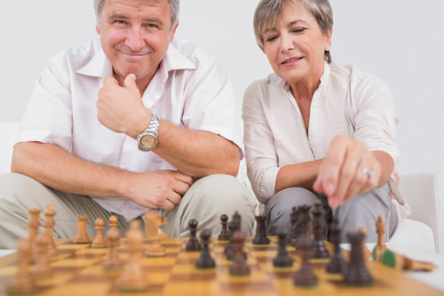 old couple chess